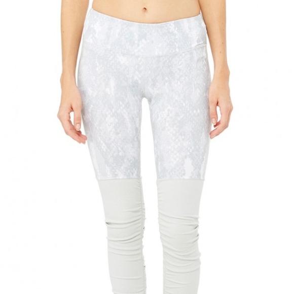 667f88072961a1 ALO Yoga Pants   Euc Python Vapor Goddess Leggings Xs   Poshmark